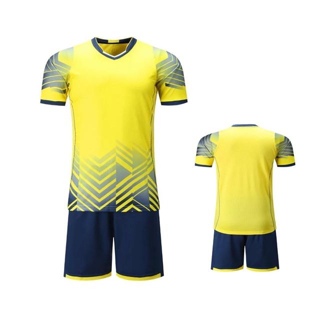 Бесплатная доставка Новый 17 18 Для мужчин желтый модель Майки спортивные  можно настроить Футбол команды логотипы e1309cdf649
