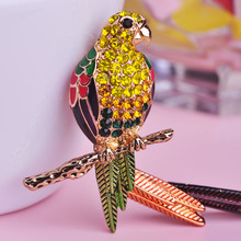 Classic Bird Brooch Enamel Colorful Eagles Brooches Parrot Unisex Animal Broaches Hat Decorations Pin up For Women Suit Dress