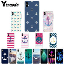 Yinuoda Anker beautiful birds and boat anchor blue Newly Cell Phone Case for Apple iPhone 8 7 6 6S Plus X XS MAX 5 5S SE XR(China)