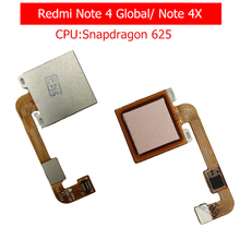 for Xiaomi Redmi Note 4 Global/ Note 4X Fingerprint Scanner Flex Cable Touch Sensor ID Home Button Return Ribbon Repair Parts