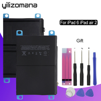 YILIZOMANA Original Tablet Battery For Apple iPad 6 iPad Air 2 Capacity 7340mAh A1566 A1567 Replacement Li ion battery + Tools