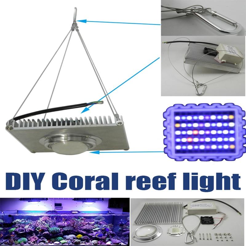 solderless diy 100w aquarium led light 100w corals reef grow lightsgolden dragon fish grow cheap diy lighting