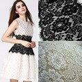 3 м/лот белые ресницы кружевная отделка ткань цветок 28 см/широкая африканская кружевная ткань свадебное платье одежда ручной работы кружевная отделка - фото