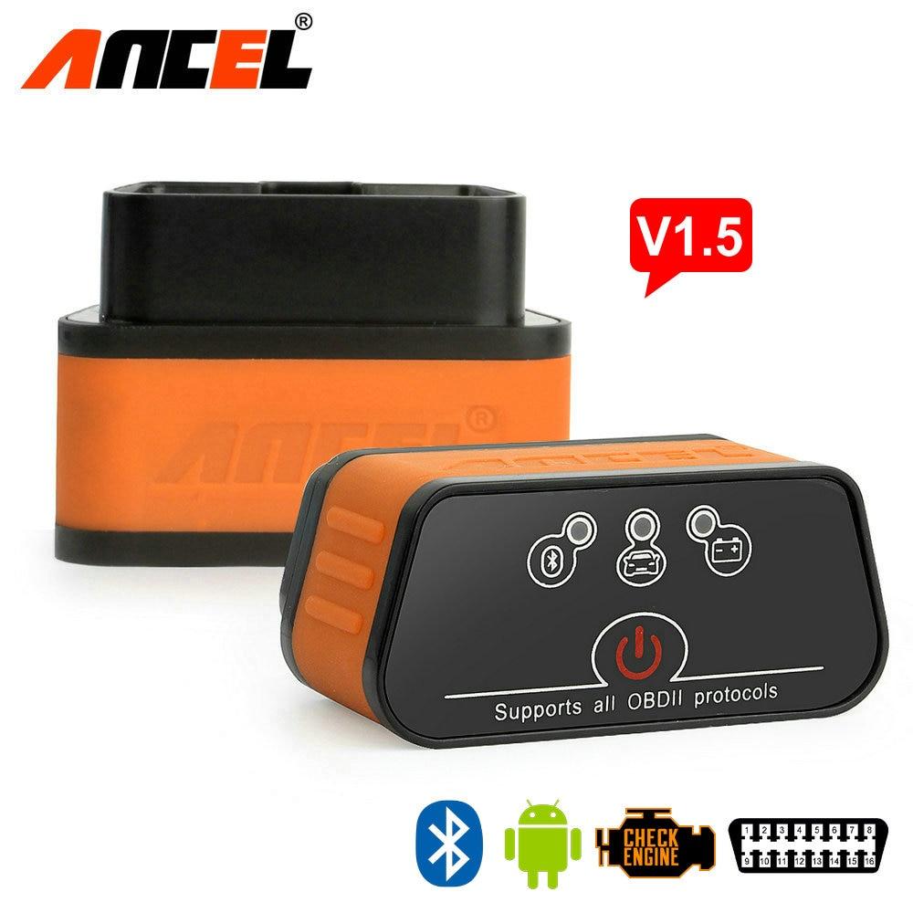 Prix pour D'origine Ancel iCar2 icar 2 Bluetooth ELM327 V1.5 OBD2 Scanner Pour Android Lecteur de Code Outil De Diagnostic Livraison Gratuite