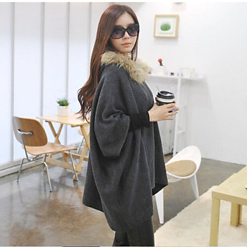 2018 Autumn Winter Women Ladies Loose Fitting   Basic     Jacket   Boyfriend   Jacket   Feminina Windbreak Oversized Long Sleeve Solid //