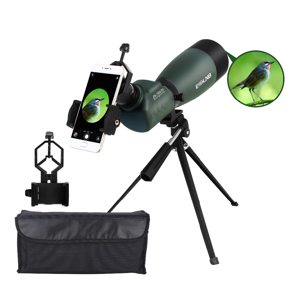 20-75X70 Spotting Scope With Tripod Cell Phone Holder BAK4 Monocular Telescope Target Shooting Hunting Bird Watching Waterproof