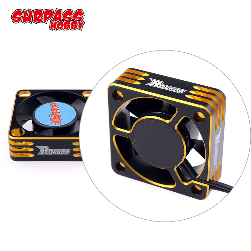 28000RPM Metal Cooling <font><b>Fan</b></font> <font><b>Motor</b></font> Heat Dissipation for Hobbywing 1/10 3650 <font><b>540</b></font> <font><b>Motor</b></font> RC Car Modified Stock Spec ROCKET image