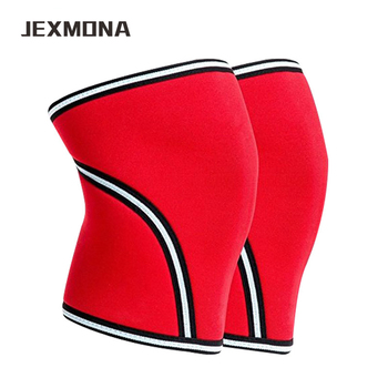 Top grade 7mm Weight Lifting Knee Sleeves Fitness Crossfit Powerlifting Sports Kneepads Squats strong power protective gear strength training