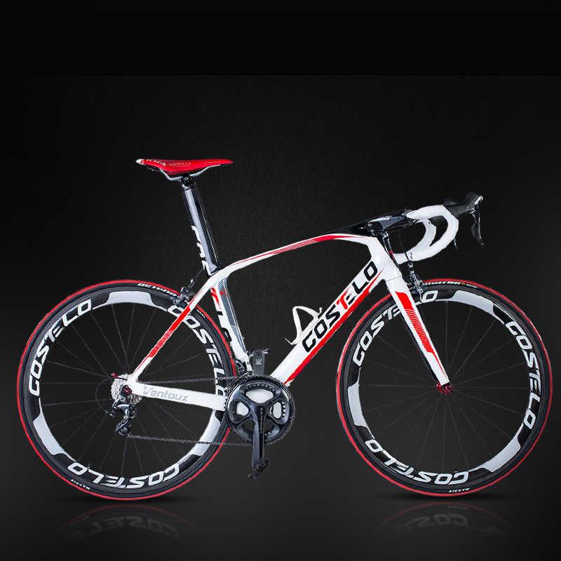 Углеродное волокно дорожный велосипед легкий карбоновый скоростной дорожный bike18-22 с переменной скоростью Профессиональный дорожный гоночный велосипед карбон