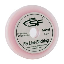 SF Braided Fly Fishing Trout Line Backing Line 30LB 50m/54yds Orange цена 2017