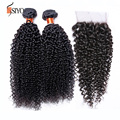 cambodian virgin hair with lace closure free part cambodian kinky curly virgin hair with closure 3 bundles with closure