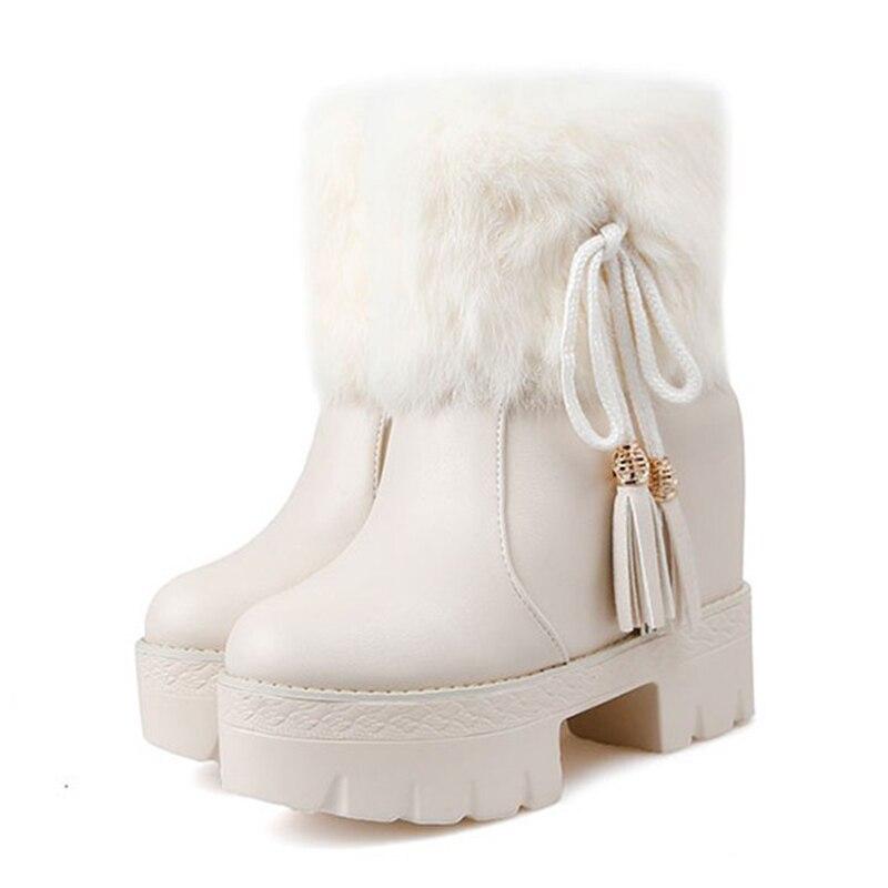 Gland Plat Caché Filles Femmes Lapin Chaussures forme blanc Arc Plate À  Coupe Talons Hiver Botas De Bottes Fourrure Noir Neige Courtes Chaud  Cheville ... 69b1a0fdcf8e