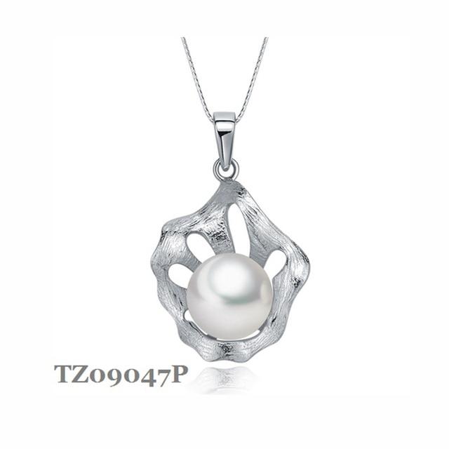 Sinya стерлингового серебра 925 колье естественный пресноводный жемчуг кулон ожерелье ювелирных украшений NGTC для женщин Лучший подарок 2017