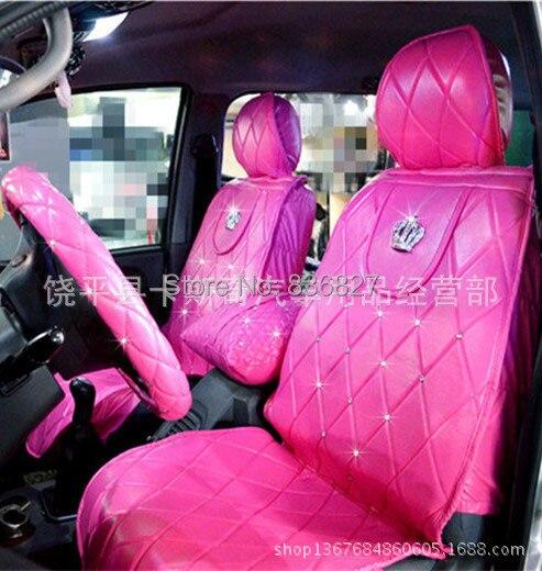Car Seat Covers Set Pink