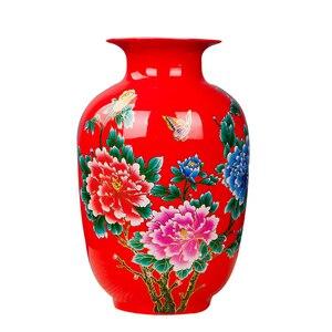 Image 4 - Jingdezhen 도자기 꽃병 세라믹 꽃 홀더 13 모델 홈 데스크 크리스마스 장식 선택