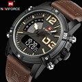 NAVIFORCE Uhren Männer Luxus Marke Quarz Analog Digital Leder Uhr Mann Sport Uhren Armee Militär Uhr Relogio Masculino