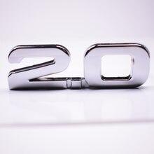 Metallo Argento 3D 2.0 2.0 t Auto Tronco Posteriore del Distintivo Dell'emblema Autoadesivo Per BMW Audi Ford Toyota Volkswagen ecc Auto auto-styling