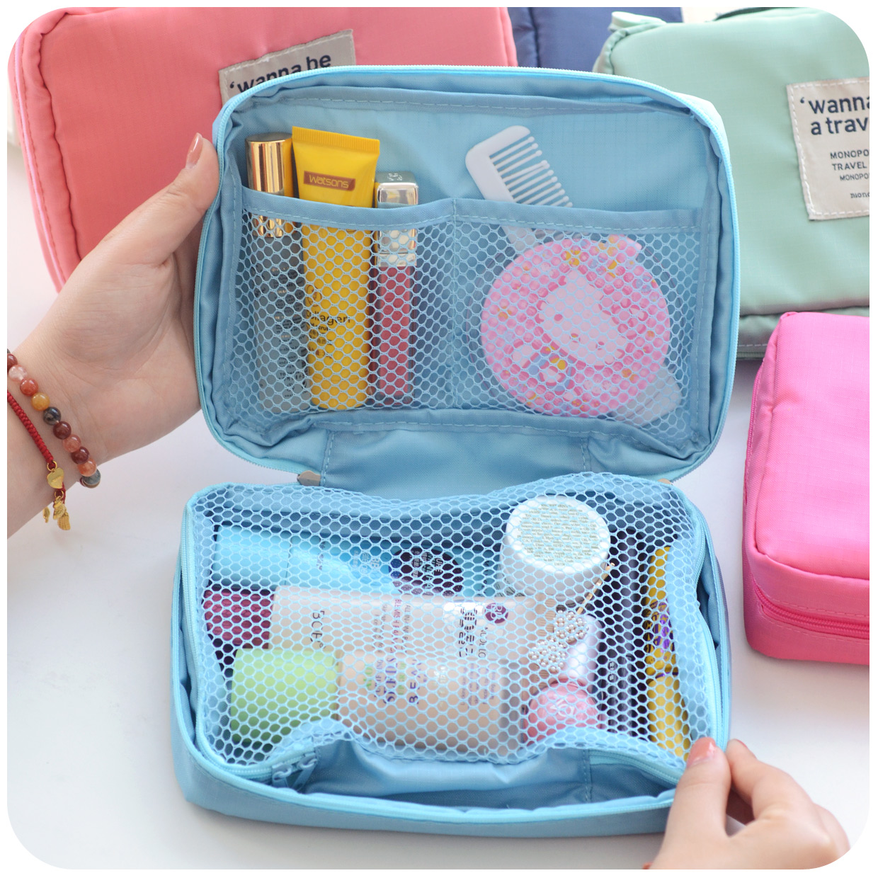 1pcs Portable Wash Bag Waterproof Cosmetic Bath Essential Supplies To Travel Abroad Pouch In Storage Bags From Home Garden On