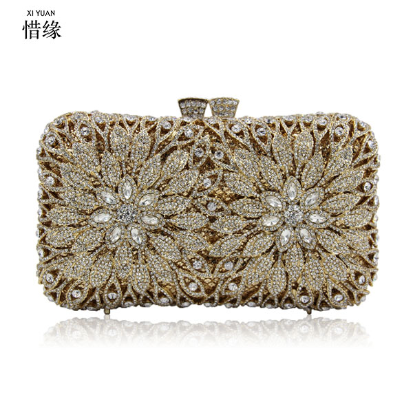 XIYUAN BRAND diamond Blue evening bags Luxury crystal women evening Clutch bags bride wedding purple pochette party handbags xiyuan brand gold party purse bags women luxury silver crystal evening bags female pochette diamond ladies wedding clutch bags