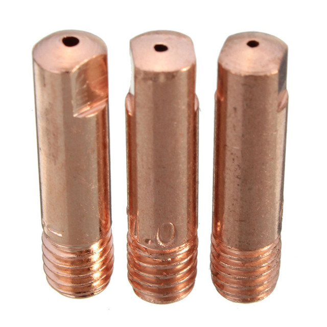 Welding Weld Torch Contact Tips Holder Gas Nozzle Gold Best Price 10Pcs MB-15AK MIG/MAG M6