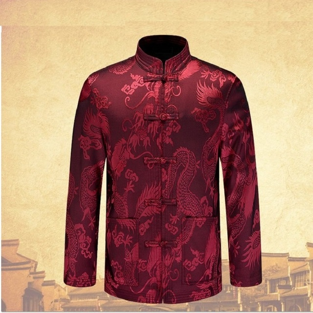 Herren Herbst winter drachen tangzhuang jacke chinas kleider langarm ...