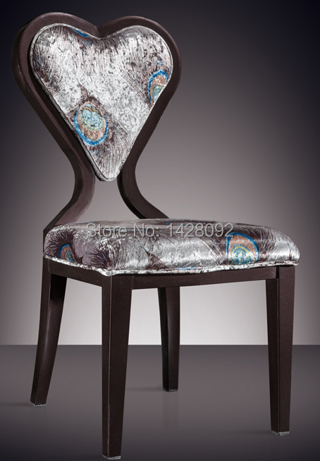 fashion aluminum hotel chair LQ-L7520 gold aluminum hotel chair