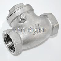 New 1 2 Female BSPP 304 Stainless Steel Swing Check Valve WOG 200PSI PN16 SS304 SUS304