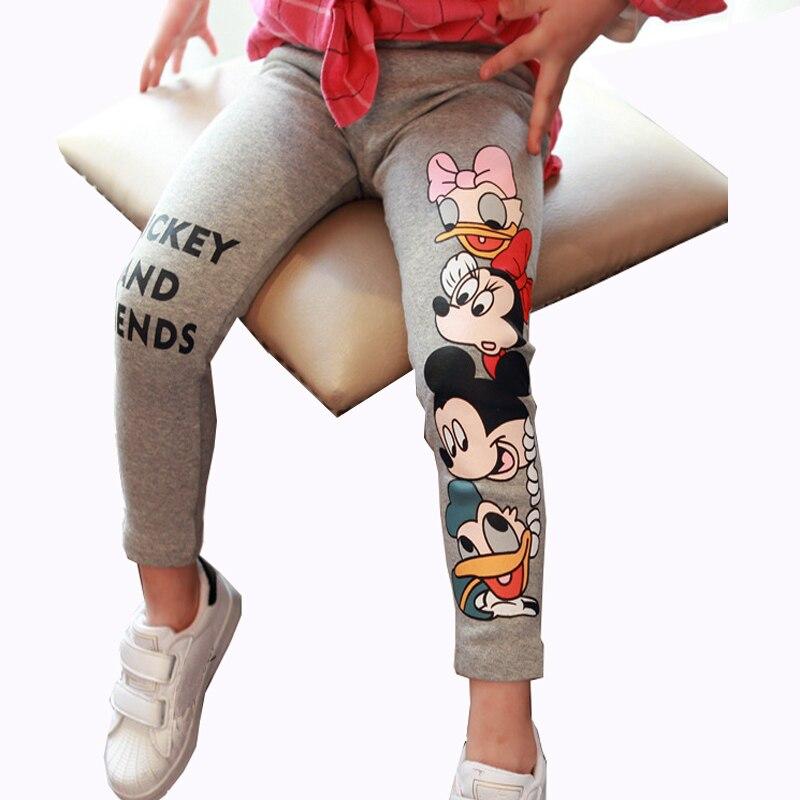 Fashion Cotton Mickey Girls Pants Cartoon Minnie Girl Leggings Baby Pants Kids Trousers Children Legging Girl Clothing 4 Colors