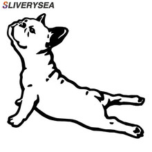 SLIVERYSEA Bulldog France Animal Vinyl Car Sticker Pet Dog Cartoon For Cars Decorative Accessories Fashion Decal Styling