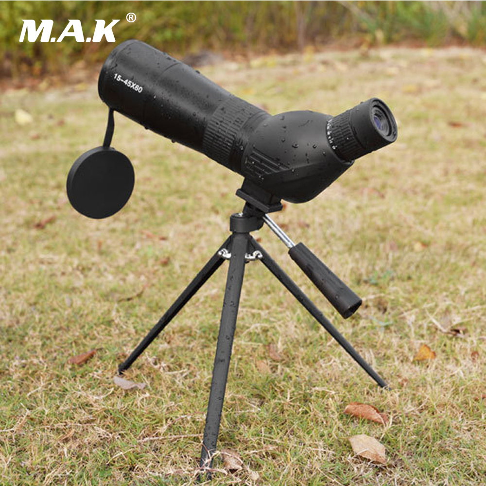 New 15-45X60 BAK4 Prism Zoom HD Target Spotting Scope Light Night Vision Waterproof Telescope for Birdwatching 10x26 night vision binoculars hd bak4 prism waterproof telescope portable hand outdoor hunting spotting scope souvenir