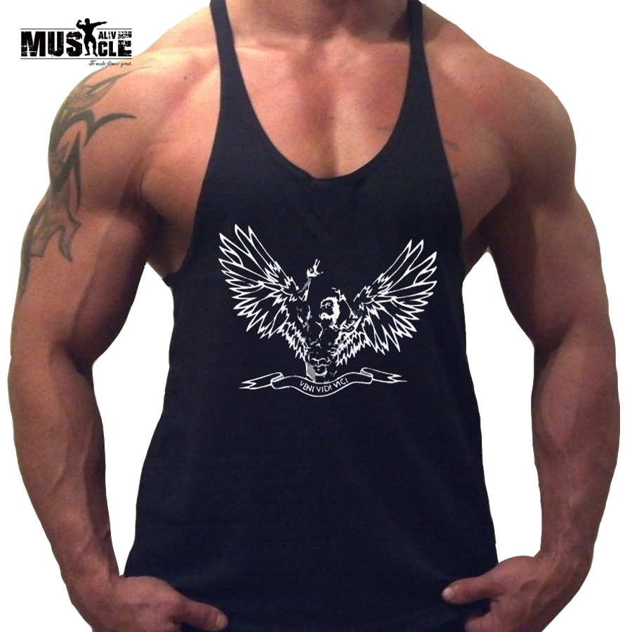 Mens bodybuilding clothing stringers zyzz golds gyms tank for Dress shirts for bodybuilders
