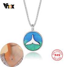 Vnox Trendy Coin Necklaces for Women Choker 925 Sterling Silver Mermaid Dolphin Tail Pendants Girls Jewelry(China)