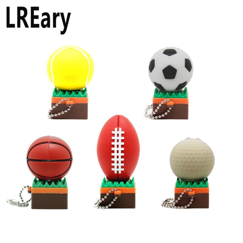 Nova bola esportes modelo USB Flash Drive De Futebol basquetebol Golf rugby  82b07a2c3bea9