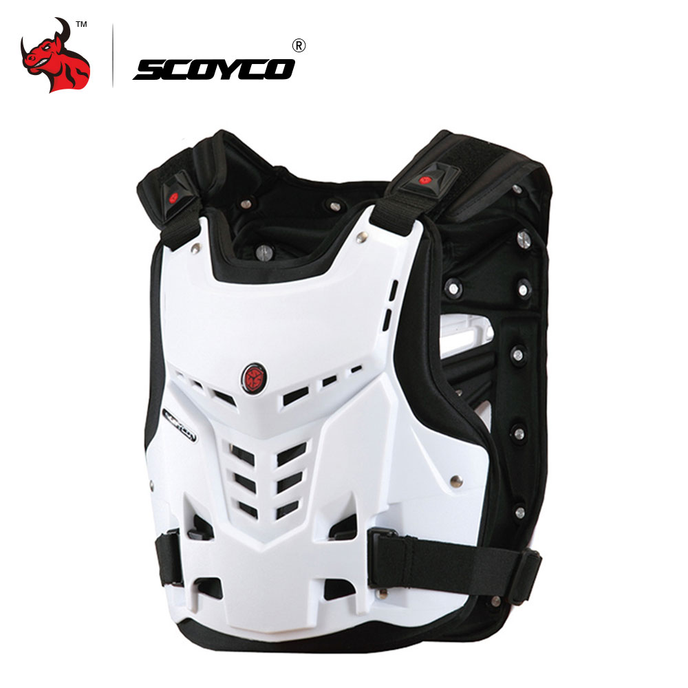 SCOYCO Motorcycle Jacket Protective Gear Motorcycle Armor Moto Riding Chest Back Protector Armor Motocross Off Road
