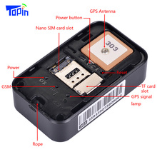 TOPIN Mini GPS Tracker Wifi LBS GPS Locator APP Tracking SMS Coordinate Dual System For Children Vehicle GPS Locator GSM Tracker
