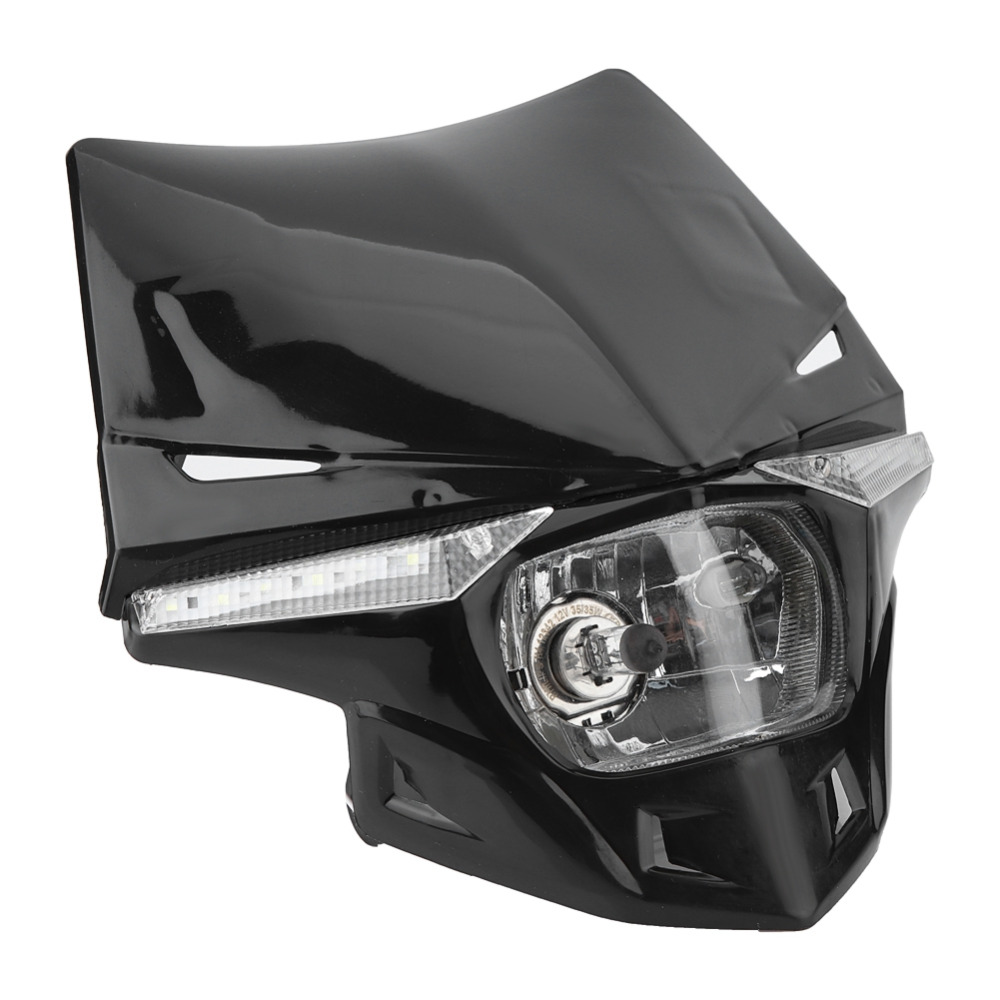 Universal DC12V Motorcycle LED Headlight Sport Custom Fairing Light Built In LED Lamp Beads Fit For Most Dirt Bikes Motorcycles|  - title=