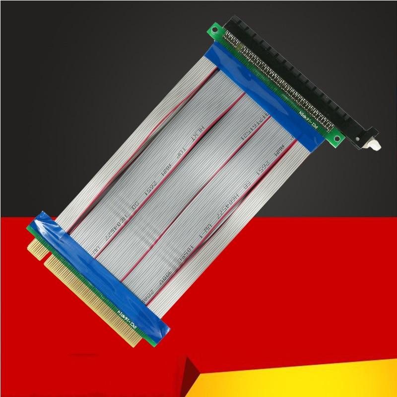 New PCI-E 16X to 16X Riser Card Adapter Extender Cable PCI E 16 X PCI Express Flexible Riser 1X 4X 8X 16 X for BTC Miner Mining 2017 pci e 4x express slot riser card flexible ribbon cable adapter pcie