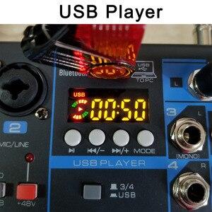 Image 4 - LOMOEHO AM 04 2 Mono + 1 Stereo 4 kanały Bluetooth USB 48V Phantom profesjonalny mikser Audio DJ