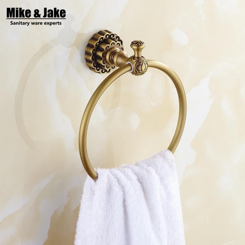 Antique Brass Wall Hand Towel Shelf Wall Towel Holder Antique Brass Towel Rack Wall Towel Holder Bathroom Hardware Accessories