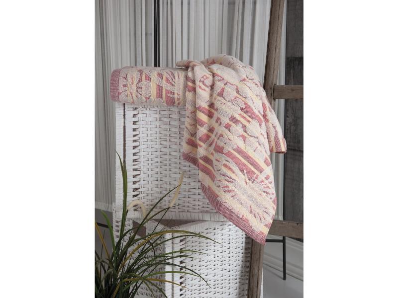 Towel bath KARNA, MARIPOSA, 70*140 cm, Red towel bath santalino with рождением доченьки 70 140 cm