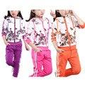 Autumn Baby Girls Clothes Jacket Floral Kids Hoodies+Pants Tracksuit Sport Suit