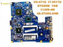 Original for ACER V5-471G laptop motherboard V5-471G I7-3517U GT620M 1GB 11309-4M 48.4TU05.04M tested good free shipping