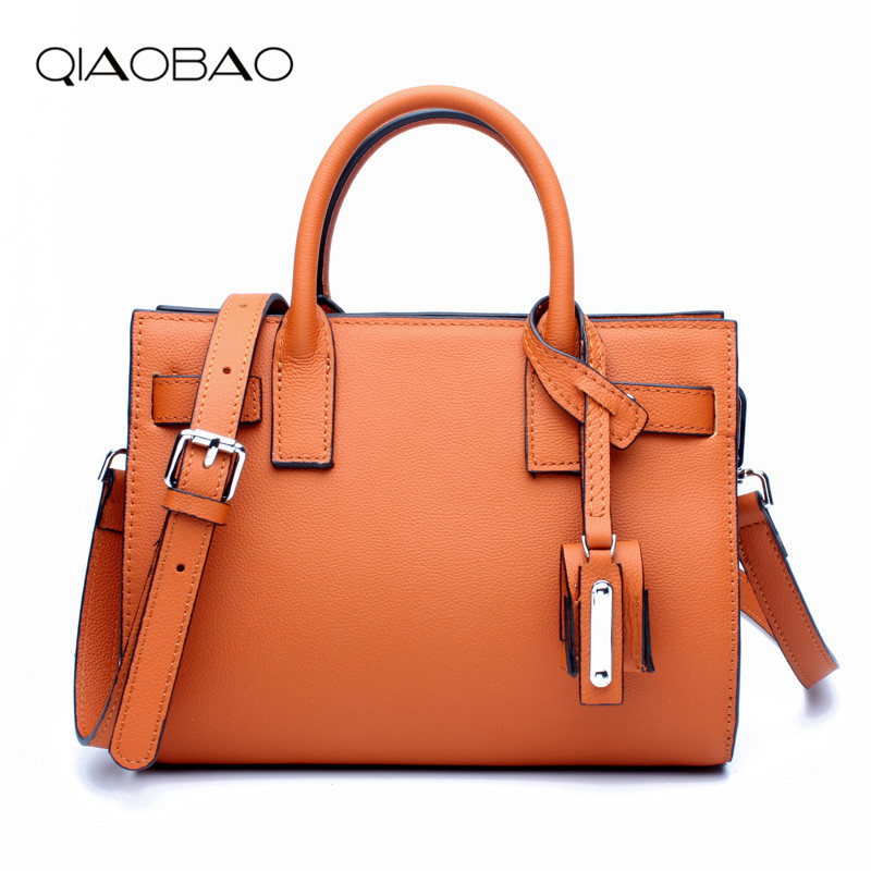 все цены на QIAOBAO Fashion Bags For Women 2018 Luxury Handbags Women Bag Designer Soft Cow Leather Women Messenger Bags Female Shoulder Bag