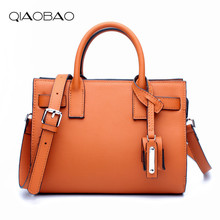 QIAOBAO Fashion Bags For Women 2018 Luxury Handbags Women Bag Designer Soft Cow Leather Women Messenger
