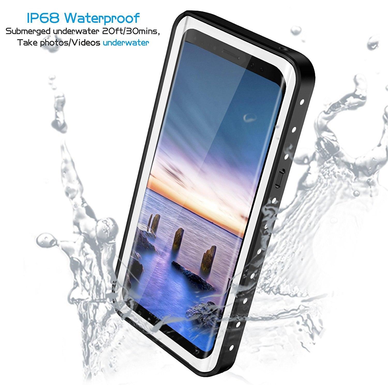 IP68 grado impermeable a prueba de polvo fuerte casos protectores para Samsung Note8 S9 S9 más Swming buceo bajo el agua disparar videos