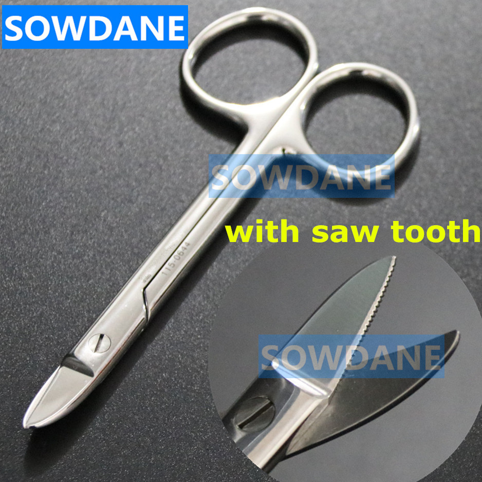 Dental Orthodontic Beebee Crown Scissor Half Moon Curved/Straight Dentist Wire Cutter ( For Max 0.3mm Wire) Serrated Tip