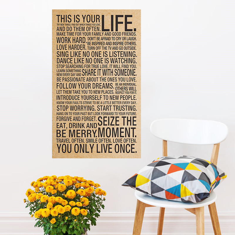 Motivational Inspirational Quotes: This Is Your Life Motivational Inspirational Kraft Poster