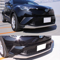 SUS304 Stainless Steel Front Bumper Lip Molding Garnish Trim Cover Lower For Toyota C HR 2017