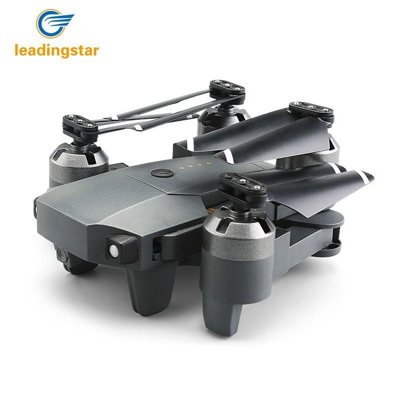 LeadingStar 2018 RC дроны XT-1 Drone с Камера HD Складная вертолет 2,4 г 4 канала 6 оси RC drone Wi-Fi в режиме реального времени