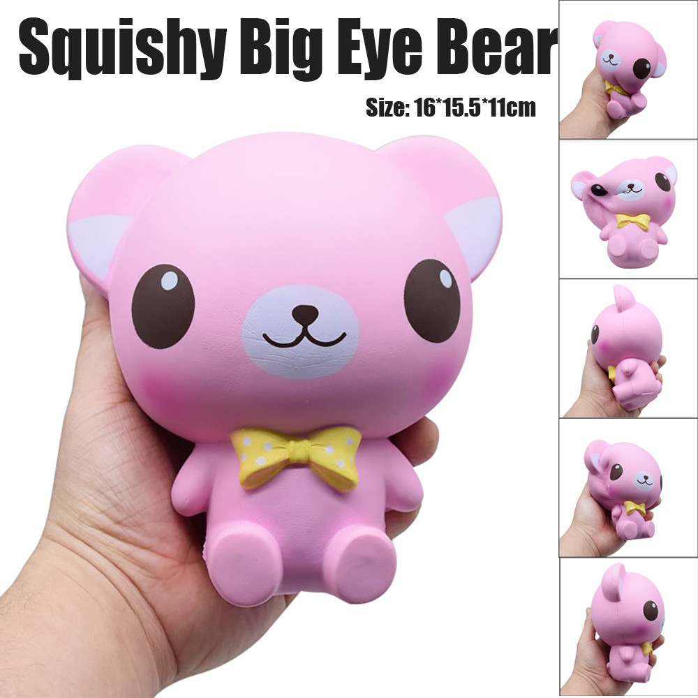 Antistresses Starry Cute Cartoon Bear Cream Scented Squishy Slow Rising Squeeze Kids Anti-Stress Fun Toys For Adults JA05b